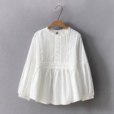 Buy Kawaii Fairyland Embroidered Long-Sleeve Blouse at YesStyle.com! Quality products at remarkable prices. FREE Worldwide Shipping available!