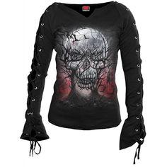 "T-shirt / Top Spiral Gothique ""Dark Roots"""
