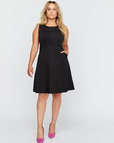 fdade5fdfd2 Shop online for Fit and Flare Dress with Pockets - Michel Studio. Find  Dresses