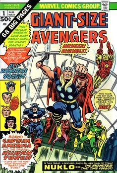 For sale marvel comics giant size avengers 1 captain america thor iron man vision scarlet witch mantis all winners squad whizzer miss america golden age human torch wasp tales to astonish 58 comic book emorys memories. Marvel Dc Comics, Marvel Comic Books, Marvel Characters, Comic Books Art, Comic Art, Book Art, Poster Marvel, Superman Comic, Marvel Vs