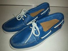 #SebagoDocksides #Mens #BoatShoes #Blue #Size8.5 NWOB Mens #LeatherDeckShoes