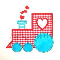 Machine Embroidery Design Applique Love Train by tmmdesigns