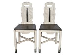 Pair of Vintage Wood Sellers Dining Chairs #2 - Relique