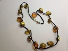 Single Strand Button Necklace by BornAgainButtons on Etsy, $10.00