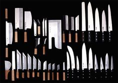 god bless the Japanese | Sweet and merciful Shun Japanese Cooking Knives, Japanese Kitchen Knives, Messer Diy, Kitchen Designs Photos, Kitchen Cutlery, Kitchen Equipment, Lame, Chef Knife, Knife Sets