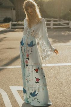 FILLYBOO - 'HEART ON THE FLOOR' - HAND EMBROIDERED DUSTER - ICE MINT – fillyboo