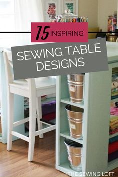 As a seamstress, quilter and maker of things, we need surface area more than the average Joe/Jane. That means a place other than the floor or dining room table, to cut fabric or sew, would be a dream come true. No matter the size of your space, or your budget there is an option for everyone with these 15 inspiring sewing table designs. The Sewing Loft #sewinginspiration #sewingroom #thesewingloft Sewing Box, Sewing Tips, Sewing Tutorials, Sewing Ideas, Diy Home Crafts, Sewing Crafts, Sewing Rooms, Sewing Spaces, Handyman Projects