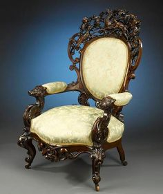Rococo style chair by Alexander Roux, ca.1850  $34,850