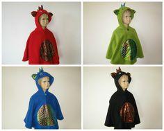 drachen karneval fasching halloween kostüm cape umhang für kleinkinder fleece