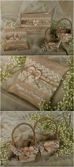 Recuerdos arpillera bodas