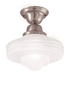 Fontana Semi Flush Ceiling Light, Satin Nickel