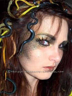 I wanted to make a medusa costume that would stand out and wouldn't make me look awkwardly bald like so many of the fake snake hair wigs do. I started...
