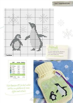 Adorable penguins free cross stitch pattern :') Found in Issue 259 of Cross Stitcher =) Cross Stitch Bird, Cross Stitch Animals, Cross Stitch Charts, Cross Stitch Designs, Cross Stitching, Cross Stitch Embroidery, Embroidery Patterns, Cross Stitch Patterns, Knitting Charts