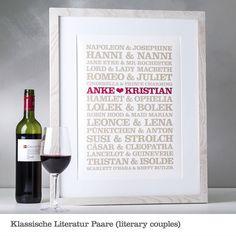 Klassische Literatur Paare