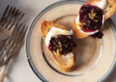 Ricotta Crostini with Blueberry–Black Pepper Jam   Vegetarian Times