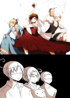 O.O France, Prussia, and Spain what are you guys doing?! XD
