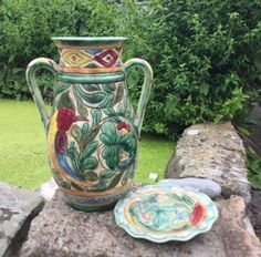 Ceramics & Porcelain Professional Sale Vintage Porcelain Footed Bowl And Decanter Yet Not Vulgar Bowls
