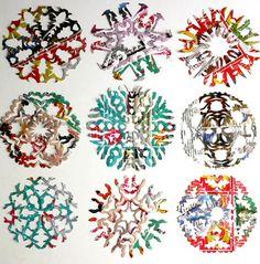 HOW MAKE PAPER SNOWFLAKES Realmente posso afirmar que os snowflakes são a minha maior paixão... quanta novidade pode surgir quando vc abre um papel e dá de cara com algo muito criativo!!! os snowfl...