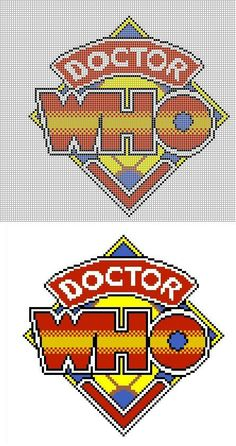 Buzy Bobbins: Classic Doctor Who logo cross stitch design