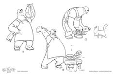 ArtStation - The Butcher Biff, Andy Ivanov Doodle Diary, Visual Development, Character Illustration, Storyboard, Cartoon Characters, Character Design, Doodles, Canvas, Drawings