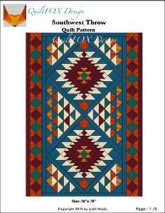 Southwest Quilt Pattern Navajo Inspired / Indian / Native