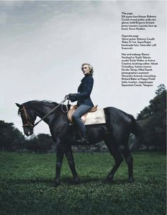 Emily Walker takes equestrian-inspired fashion for a walk on the sensual side without making a fetish statement out of 'The Preening and the Pedigree'. Stylist Pearl Shah chooses body-hugging blacks with lots of leather and suiting silhouettes, lensed with a discerning eye for natural, sophisticated sensuality by Aneev Rao for Marie Claire India's August issue.