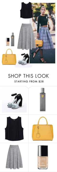 """Untitled #1285"" by betiana-francia on Polyvore featuring Régime des Fleurs, Fendi and H&M"