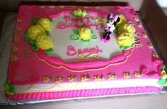 Minnie mouse 1/2 sheet birthday cake