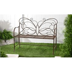 GiftCraft Butterfly Garden Bench