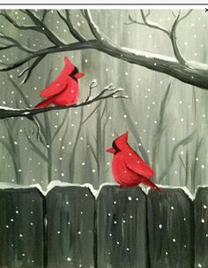 Paint Nite: Discover a new night out and paint and sip wine with friends Christmas Canvas, Christmas Paintings, Christmas Art, Whimsical Christmas, Winter Painting, Winter Art, Winter Theme, Wine And Canvas, Illustration Noel