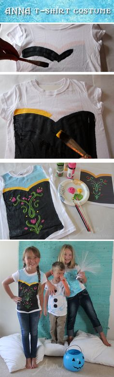 Anna from Frozen: Halloween Costume Tutorial. pair this with a cape and the kids are safe to play outside!