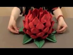 Création d'un ananas en serviettes - Festi - YouTube Diy And Crafts, Arts And Crafts, Paper Crafts, Wedding Arrangements, Floral Arrangements, Diy Flowers, Paper Flowers, Paper Serviettes, Origami 3d