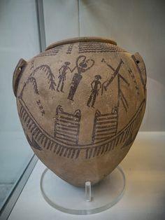 Predynastic decorated pot, Naqada II phase (c. 600-3250 BC), Egypt. British Museum (EA 49570)
