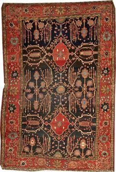 Lot 1217, a Fereghan Sarouk rug Central Persia. Bonhams 'Fine Oriental Rugs & Carpets' 29 July 2013 in Los Angeles.