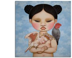 My current favourite - Poh Ling Yeow - I Waited & Waited with the Major and GG Masterchef Australia, Indigenous Australian Art, Australian Artists, Art And Illustration, Pop Surrealism, Bird Art, Asian Art, Female Art, Cool Art