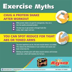 Exercise Myths #RajseeAyurvedic #Sexual #Wellness #Capsules for #Men . Comment, Like & Share With Everyone. www.rajsee.com 24X7 Helpline 0171-3055055