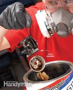 Fix Lawn Mower 653725702130087070 - Basic Carburetor Repair – lets get that chainsaw working Source by Lawn Mower Maintenance, Lawn Mower Repair, Repair Shop, Home Repair, Car Repair, Chainsaw Repair, Lawn Equipment, Engine Repair, Engine Rebuild