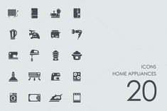 Home appliances icons @creativework247