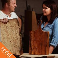 Ballyshane create beautiful wooden pieces, handcrafted using locally sourced  Irish Hardwoods. William's father always harboured a passion for woodturning, coming from two generations of master craftsmen. Together, they'd spend hours discussing the merits of different techniques and types of wood. Using these cherished memories, William and Cheryl created Ballyshane #sceal2019 #DiscoverIrishDesign #KilkennyShop    #Regram via @B2oC5J9Dkv1 Create A Signature, Irish Design, Cherished Memories, Woodturning, Types Of Wood, Cheryl, Father, Passion, Beautiful