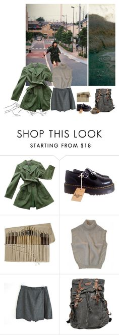 """you have hypnotized my soul"" by lobbyboy95 ❤ liked on Polyvore featuring Ann Taylor, Dr. Martens, Bed