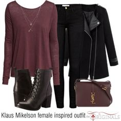 Klaus Mikelson female inspired outfit/TO