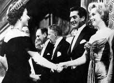 1956, October ~ Queen Elizabeth & Marilyn Monroe, both aged 30.