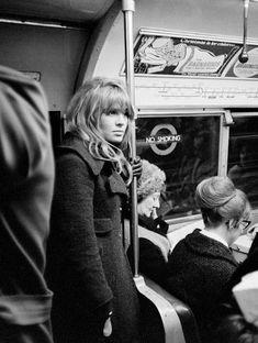 Julie Christie on the London Underground