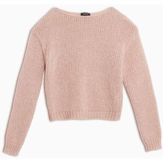 Max&Co. Mohair blend jumper ($110) ❤ liked on Polyvore featuring tops, sweaters, powder pink, long sleeve sweater, pink sweater, loose fitting sweaters, boat neck tops and loose tops