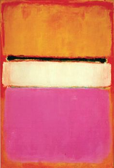 "Mark Rothko - 'White Center' - ""I'm not an abstractionist. I'm not interested in the relationship of color or form or anything else. I'm interested only in expressing basic human emotions: tragedy, ecstasy, doom, and so on."""