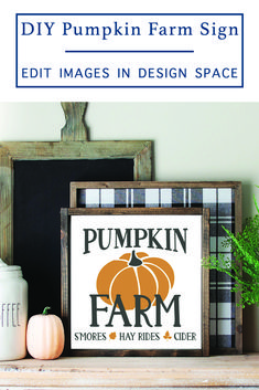 This is an easy Farmhouse sign you can make with your Cricut! It features a fun Fall design that will make any house feel a little more cozy this fall! via @clarkscondensed Pumpkin Farm, Diy Pumpkin, Farm Signs, Farmhouse Signs, Kitchen Recipes, Cricut, Projects, Fun, Design