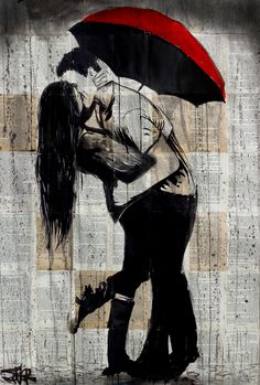 """LOVE N WEATHER "" by loui jover. Paintings for Sale. Bluethumb - Online Art Gallery"