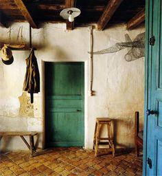 floor, green door  グリーンのドアがたまらなくかわいい。