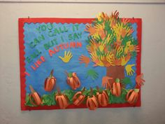 Autumn bulletin board by Luannie
