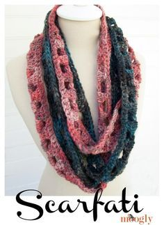 twisted chainlink infinity scarf.  two scarves in one.